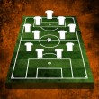 3d Football or soccer field — Stok fotoğraf