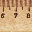The background of the wooden ruler — Stock Photo