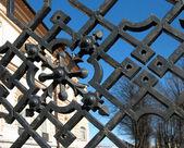Detail of the garden fence on Ligovsky Avenue. St. Petersburg — Stock Photo