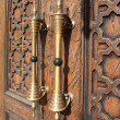 Стоковое фото: Fragment of wooden door. Thread