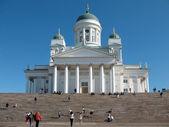 Cattedrale in piazza del senato di helsinki — Foto Stock