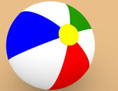 3d Render of a Beach Ball in the Sand — Stock Photo