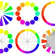 Stock Vector: Set of Color Wheels