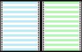 Set of Dot Matrix Printer Paper — Stock Vector