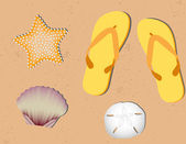 Sfondo spiaggia sabbiosa — Vettoriale Stock