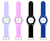 Set of Kids Wrist Watches — Stockvektor