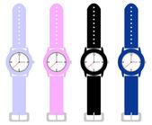 Zbiór dzieci zegarki na rękę — Wektor stockowy
