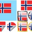 Flag Set Norway — Stock Vector #9010337