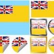 Flag Set Niue — Stock Vector