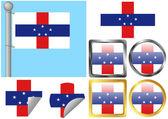 Flag Set Netherlands Antilles — Stock Vector
