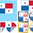 Stock Vector: Flag Set Panama