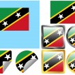 Flag Set Saint Kitts and Nevis — Stock Vector