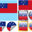 Flag Set Samoa — Stock Vector #9062041