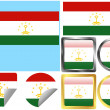 Flag Set Tajikistan — Stock Vector #9062171