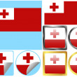 Flag Set Tonga — Stock Vector