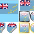 Flag Set Tuvalu — Stock Vector #9062291