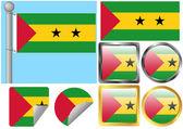 Flag Set Sao Tome and Principe — Stock Vector