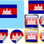 Flag Set Cambodia — Stock Vector #9543774