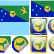 Flag Set Christmas Island — Stock Vector