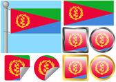 Flag Set Eritrea — Stock Vector