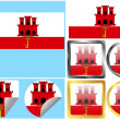 Flag Set Gibraltar — Stock Vector