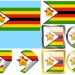 Royalty-Free Stock Vector Image: Flag Set Zimbabwe
