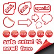 Royalty-Free Stock Vectorielle: Set with sale icon
