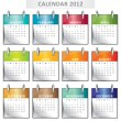 Calendar for 2012 - Stock Vector