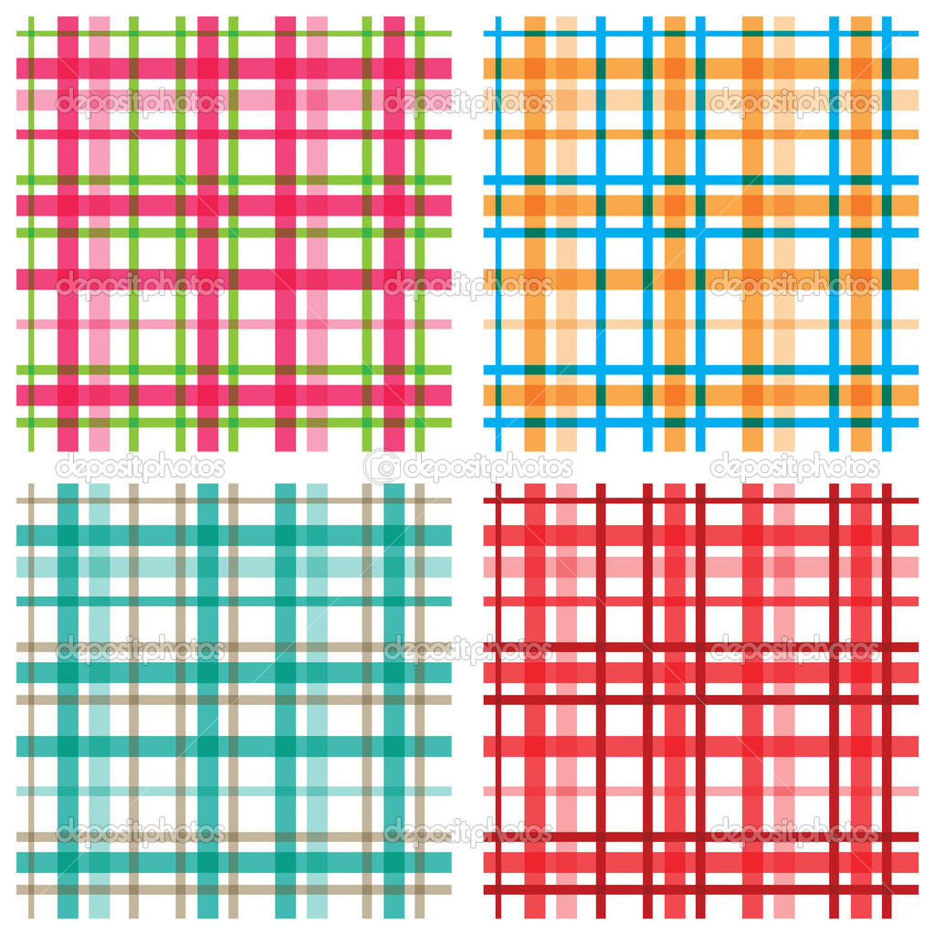 Plaid Patterns In Various Color Combinations