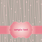 Romantic pink card — Vettoriale Stock