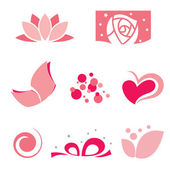 Set of rose symbol — Stock Vector