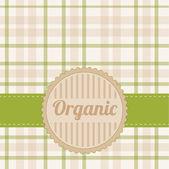 Organic card — Stock Vector
