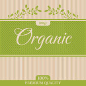 Organic label — Vettoriale Stock