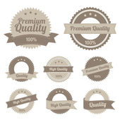 Labels de qualité premium — Vecteur