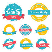 Premium Quality Labels — Vettoriale Stock