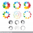 Set of colorful arrows icon — Stock Vector