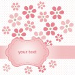 Flower card — Stock vektor #9363711