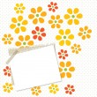 Flower card with paper — Imagen vectorial