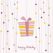 Cute birthday card — Vettoriale Stock