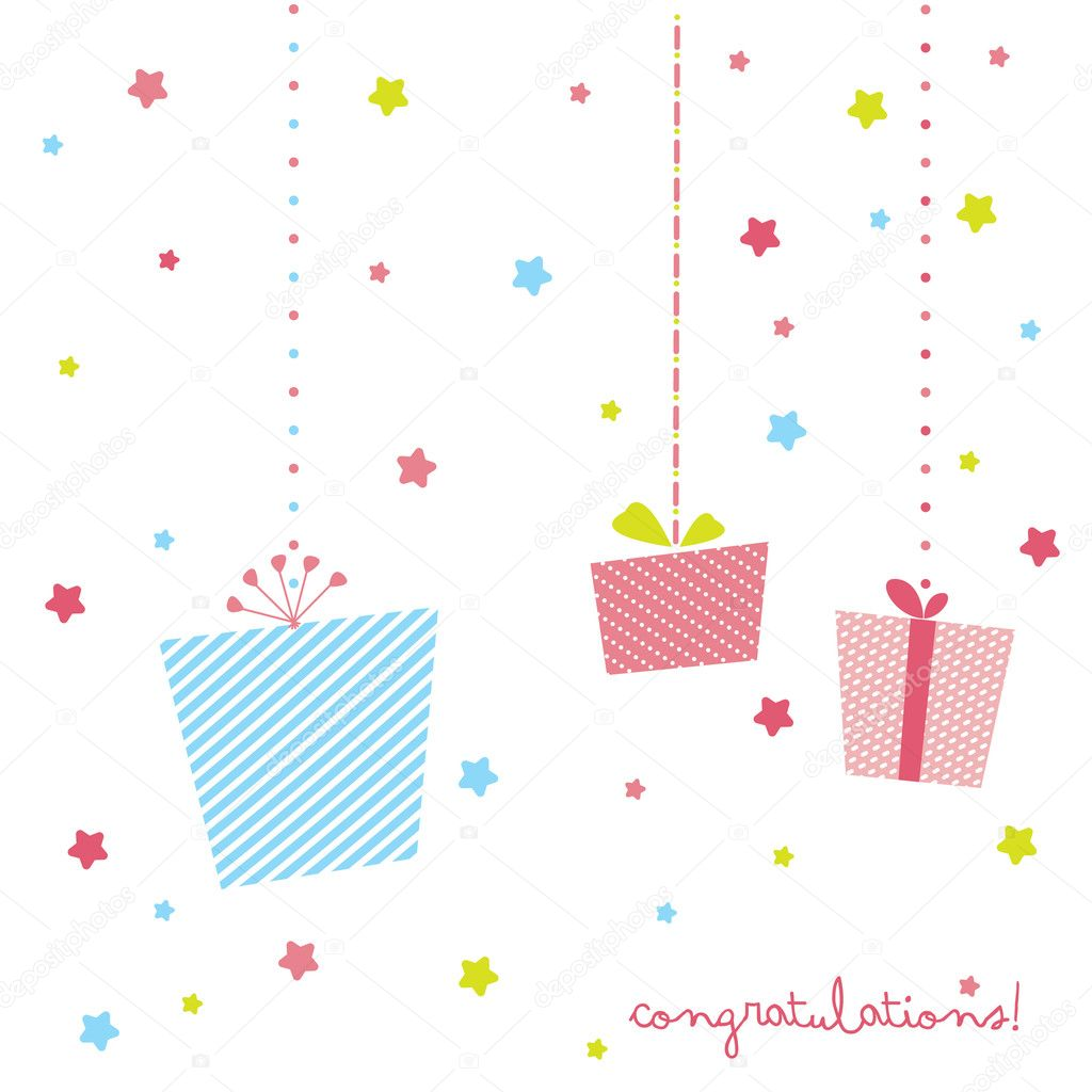 Cute t card stock illustration