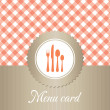 Elegant restaurant menu card — Stock Vector #9680397