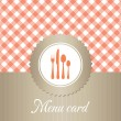 Stock Vector: Elegant restaurant menu card