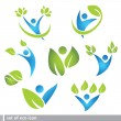 Set of eco and icon — Stock Vector