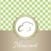 Cute restaurant menu card — Vettoriale Stock