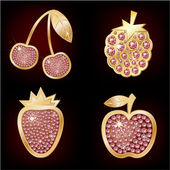 Icons of fruit — Stockvector