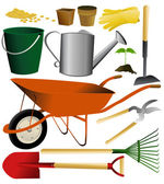 Set of garden tools — Stock Vector