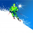 Skier in mountains — Stock Vector #9122439