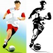 Football player - Stock Vector