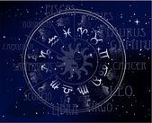 Horoscope zodiac — Stock Vector