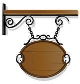 アンティークの看板 — ストックベクタ
